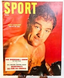 Vintage Sport Magazine Featuring Rocky Marciano