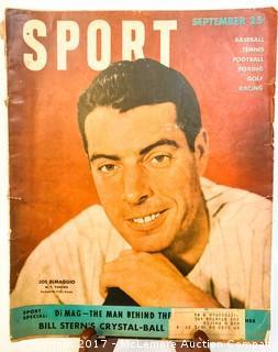 Vintage Sport Magazine Featuring Joe DiMaggio