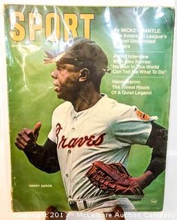 Vintage Sport Magazine Featuring Hank Aaron