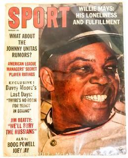 Vintage Sport Magazine Featuring Willie Mays