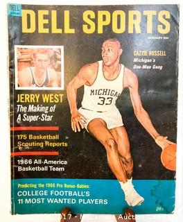 Vintage Dell Sports Magazine Featuring Cazzie Russell