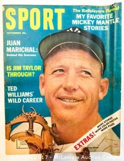 Vintage Sport Magazine Featuring Mickey Mantle