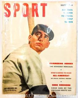 Vintage Sport Magazine Featuring Ted Williams