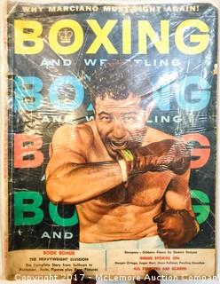Vintage Boxing Magazine Featuring Rocky Marciano