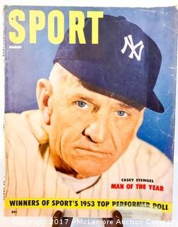 Vintage Sport Magazine Featuring Casey Stengel