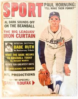 Vintage Sport Magazine Featuring Sandy Koufax