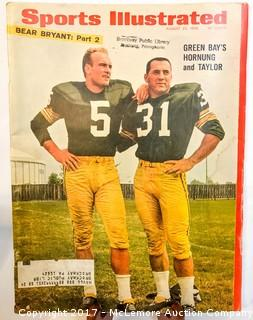 Vintage Sports Illustrated Magazine Featuring Paul Hornung and Jim Taylor