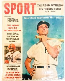 Vintage Sport Magazine Featuring Roger Maris