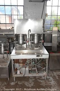 Dual Steam Tilt Kettle and Cabinet