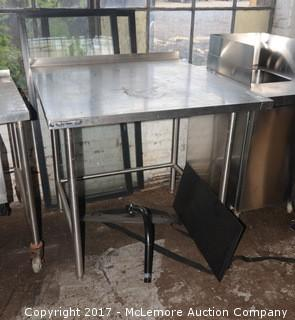 Wasserstrom Stainless Steel Workstation