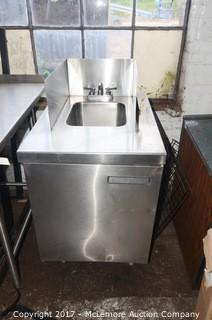 Delfield Commercial Stainless Steel Sink and Cabinet