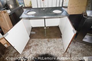 Dual Trashcan Cabinet