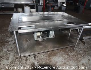 Stainless Steel Kitchen Prep Table with Cold Well