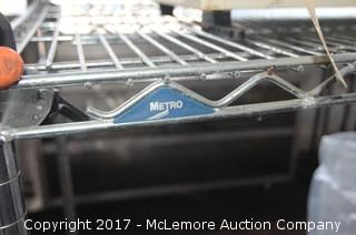Rolling Metro Chrome Wire Shelving