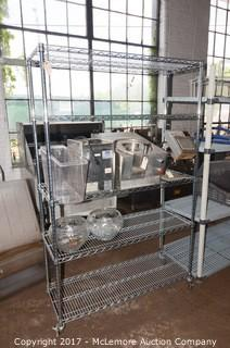 Rolling Seville Classics Chrome Wire Shelving