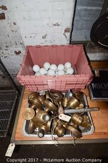 Metal Sconces and Light Bulbs
