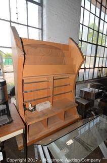 Wooden Rolling Merchandise Display
