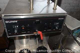 Bunn Dual Commercial Coffee Brewer with Newco Dual Commercial Coffee Brewer
