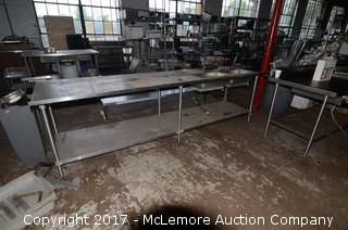 Stainless Steel Steam table with Two APW Wyott Drop in Steam Pans