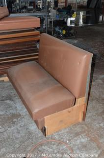 Single Side Restaurant Booth with Two Extra Cushions
