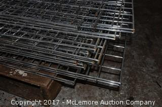 Chrome Wire Grid Panel of Various Sizes