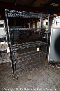 Seville Calssics Rolling Chrome Wire Shelves