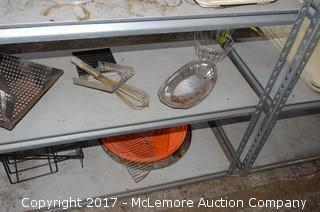 Set of Industrial Shelves with Contents