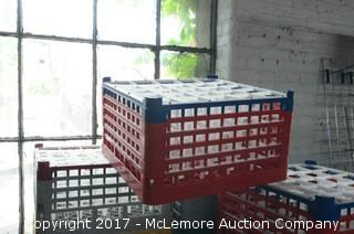 Roughly 27 Compartment Drink Racks