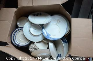 Box of Plates and Other Dishes