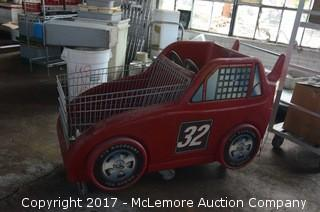Race Car Themed Shopping Cart