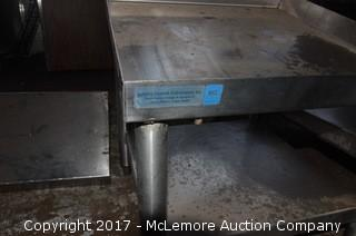 Small Stainless Steel Kitchen Expo/Prep Station