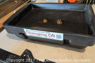 Jack Stands, Jack, Oil Changing Pan, Receiver Hitch with Ball  and Bottle Jack