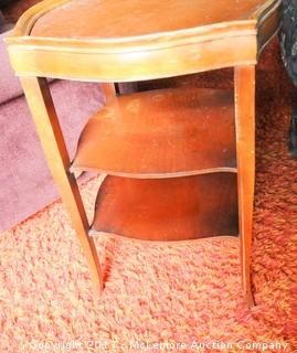 Wooden 3 Level Side Table