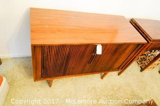 Vintage Television Stereo Cabinet with Sliding Doors
