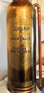 Vintage Fire Extinguisher Lamp