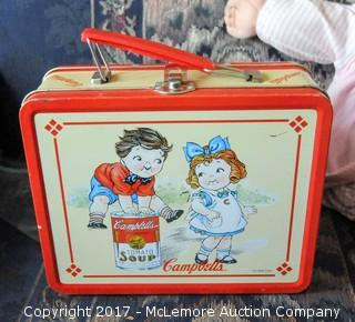 Assortment Of Dolls And Vintage Lunchbox