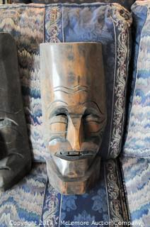 Pair Of Carved Masks