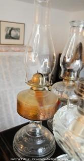 Assortment Of Vintage Oil Lamps