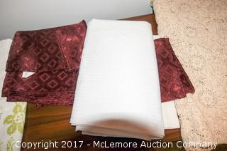 Assortment Of Linens and Quilt