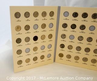 Coin Collecton Books With Partial Coin Collections