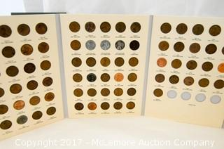 Con Collection Books With Partial Coin Collections