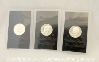 Three Eisenhower Proof Dollars