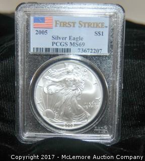 2005 Silver Eagle $1 First Strike Coin