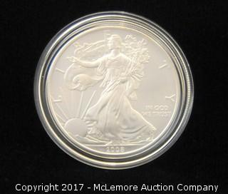 2008 American Eagle One Ounce Silver Uncirculated Coin