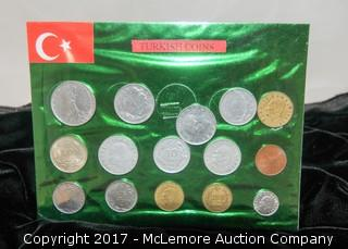 Assortment Of Coins And Currency From Turkey