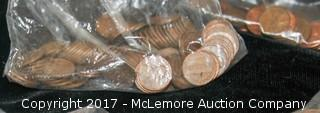 Assortment Of One Cent Coins