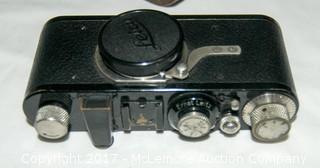 Leica Camera, Case And Lens