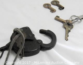 Railroad Lock And Keys