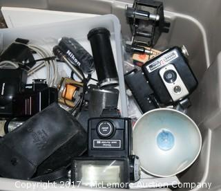 Assorted Vintage Cameras and Accessories