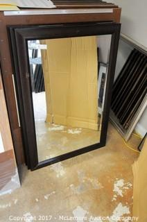 3 Mirrors with Wooden Frames